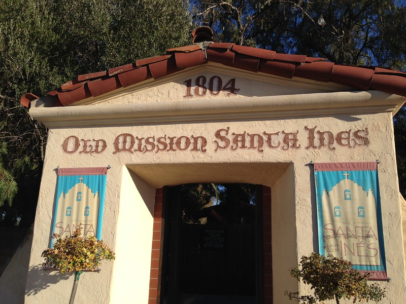 old mission santa ines entrance