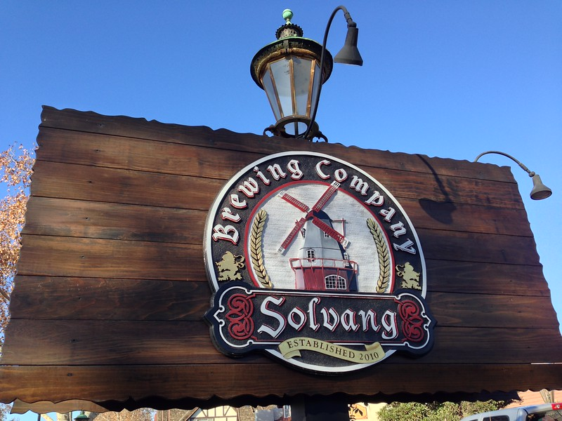 solvang brewing company sign
