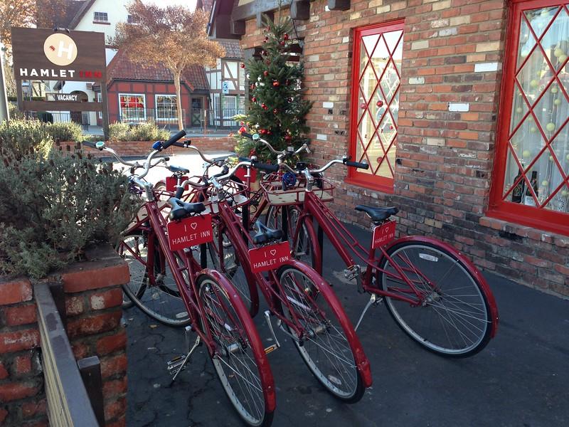 visiting solvang - hamlet inn bikes