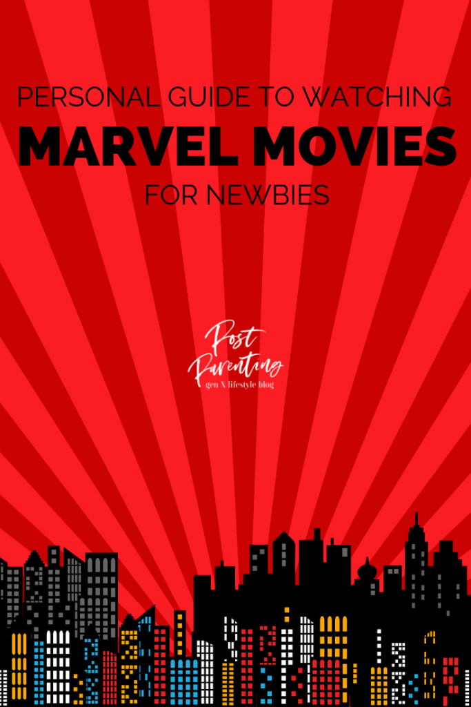 guide to watching marvel movies - pinterest image