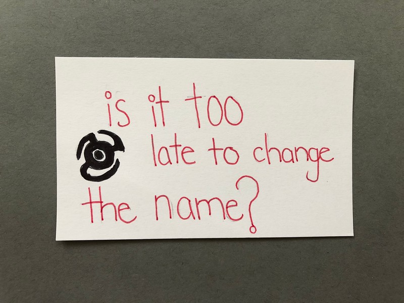 marvel movie quote - is it too late to change the name?