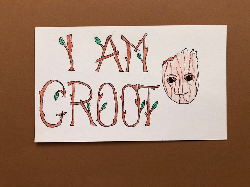 guide to watching marvel movies - i am groot quote